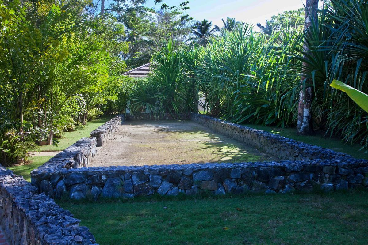 Location villa Las Terrenas - Le terrain de pétanque