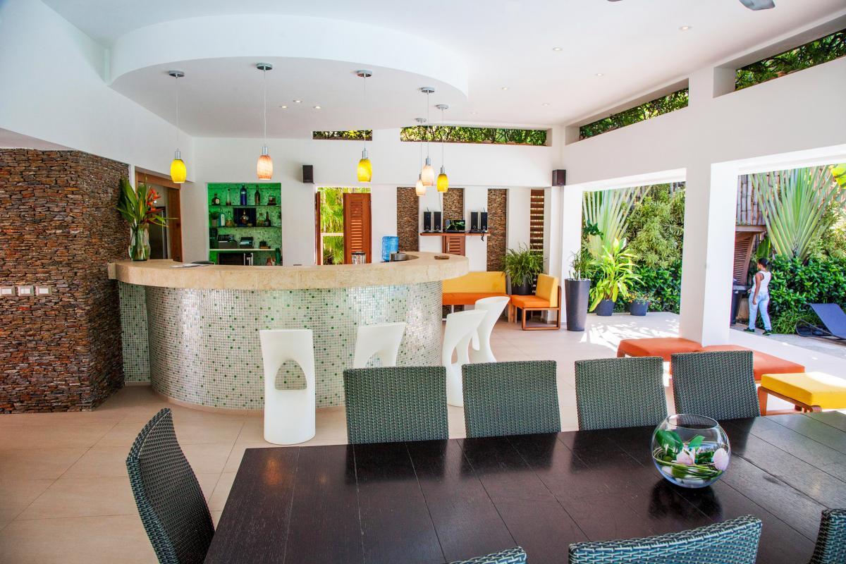 Location villa Las Terrenas - La cuisine et la salle à manger