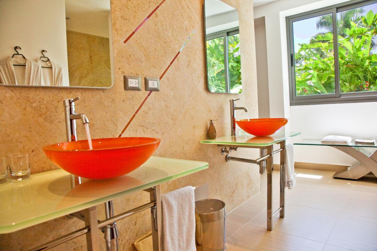 Location villa Las Terrenas - La salle de douche de la Master Suite