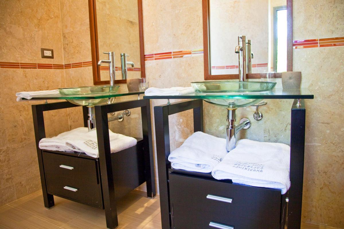 Location villa Las Terrenas - La salle de douche de la Suite famille