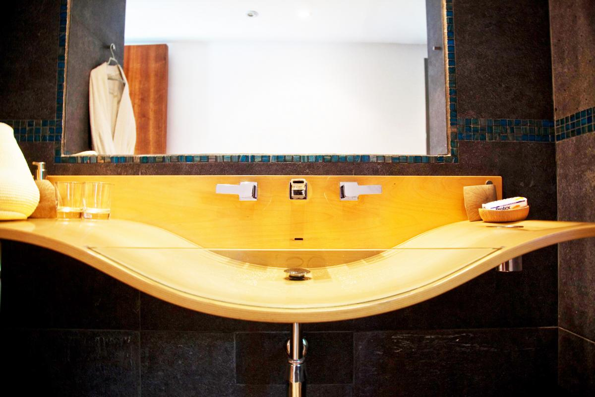 Location villa Las Terrenas - La salle de douche de la Suite jacuzzi