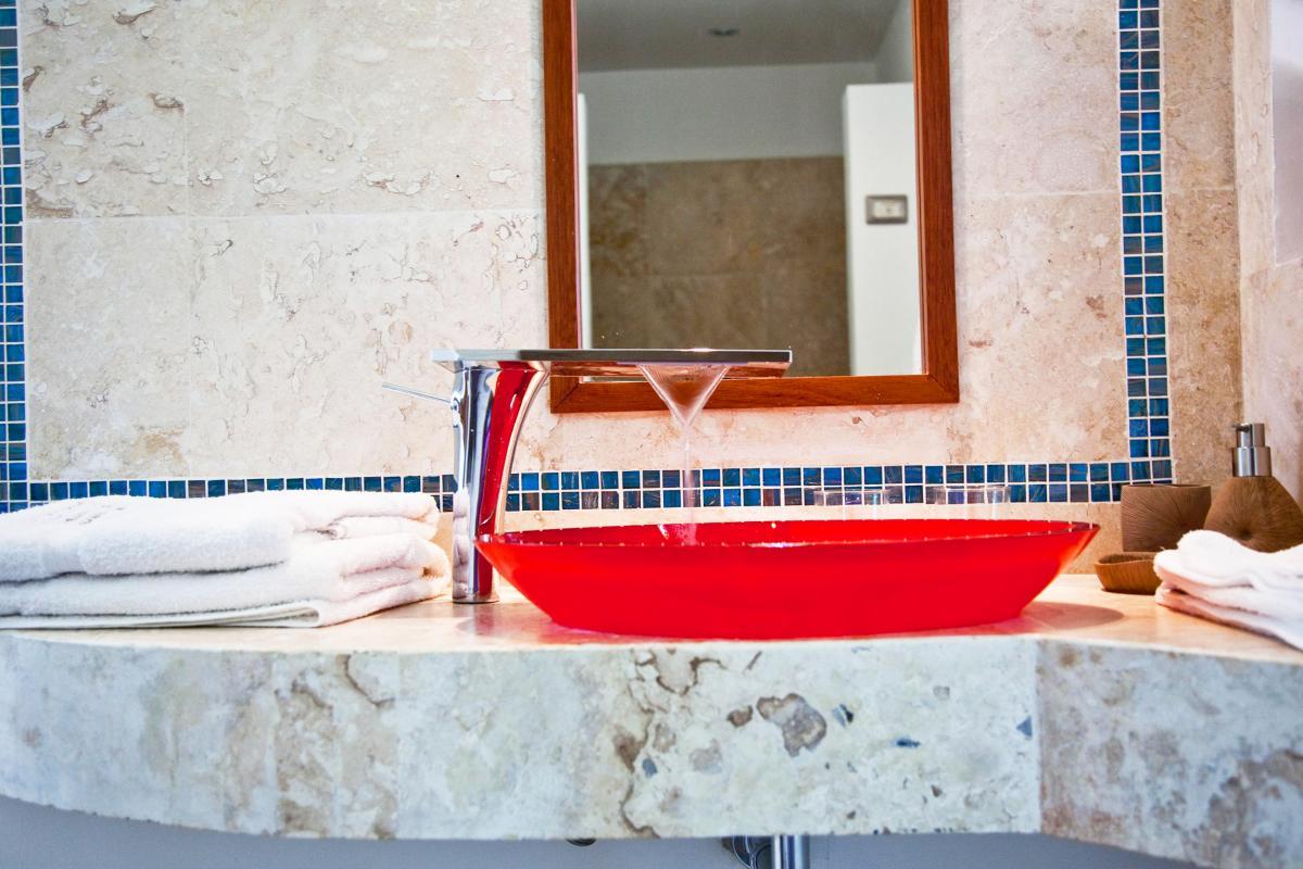 Location villa Las Terrenas - La salle de douche de la Suite piscine