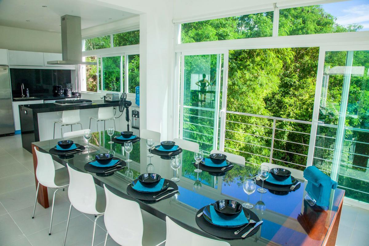 Location villa Las Terrenas - La salle à manger et la cuisine