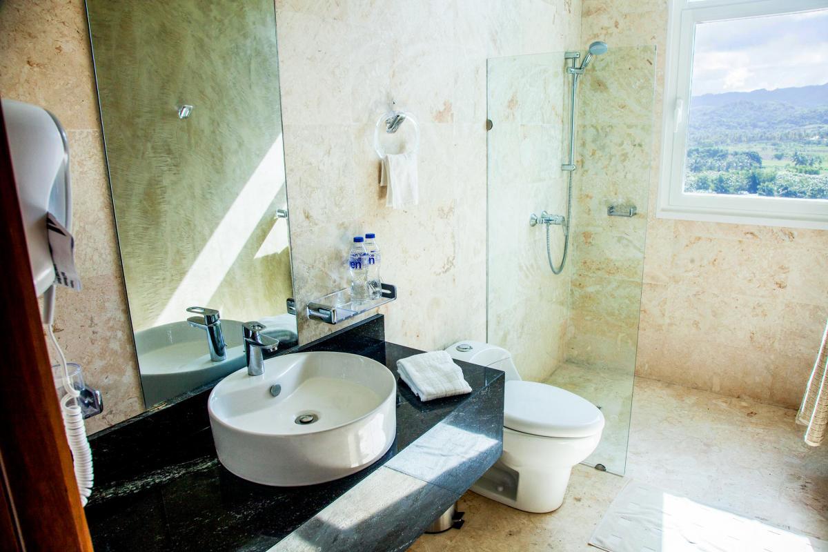 Location villa Las Terrenas - La salle de douche de la chambre 2