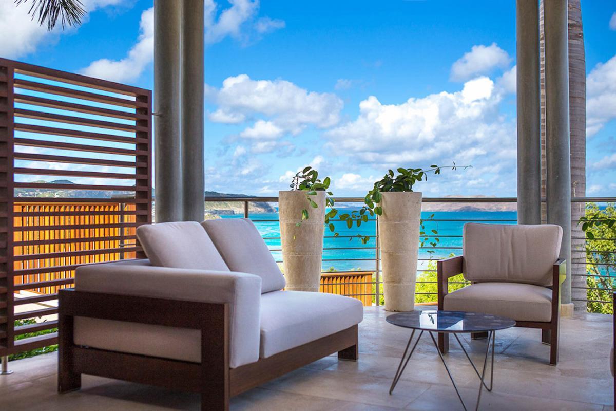 Location villa Camaruche - La terrasse de la chambre 1