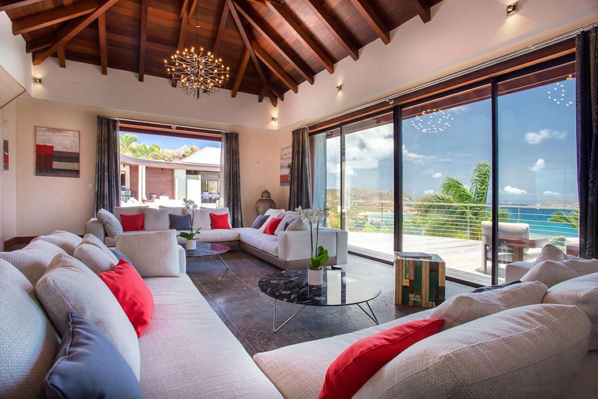Location villa Camaruche - Le salon intérieur