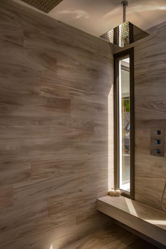 Location villa Camaruche - La salle de douche de la chambre 4