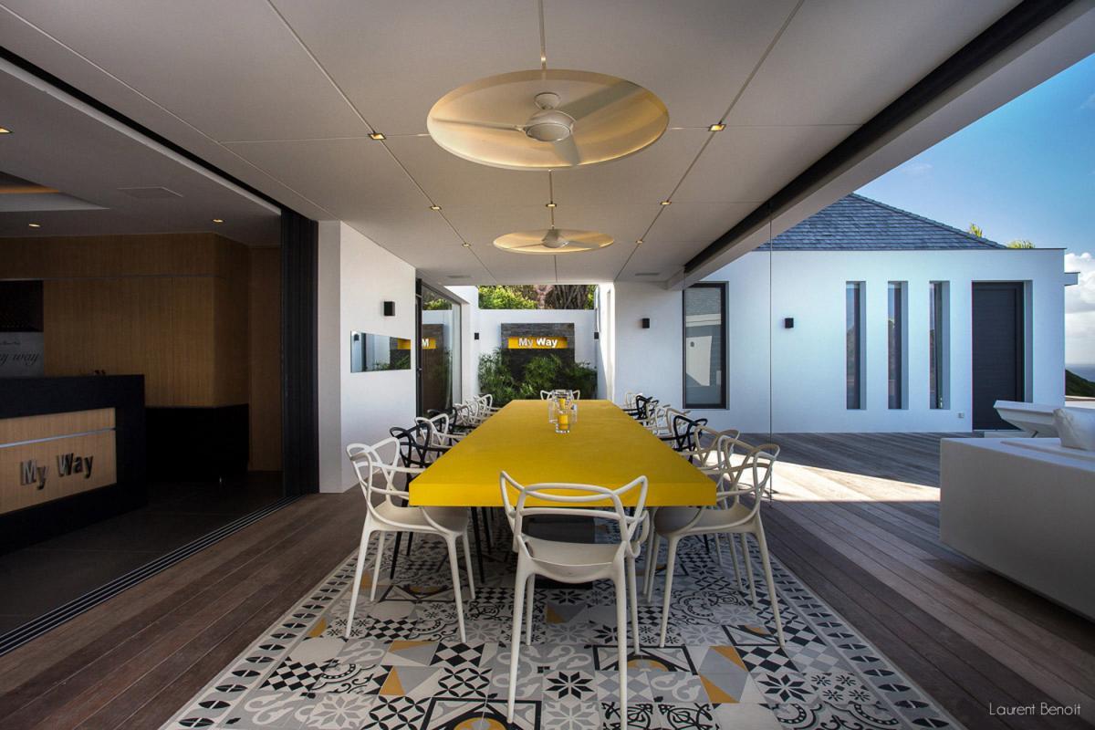 Location villa Flamands - La salle à manger