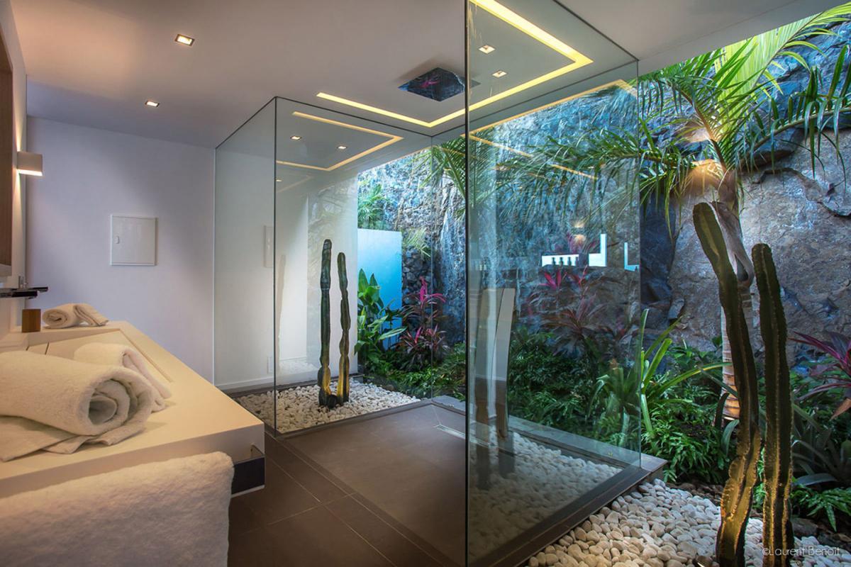 Location villa Flamands - La salle de douche de la chambre 1
