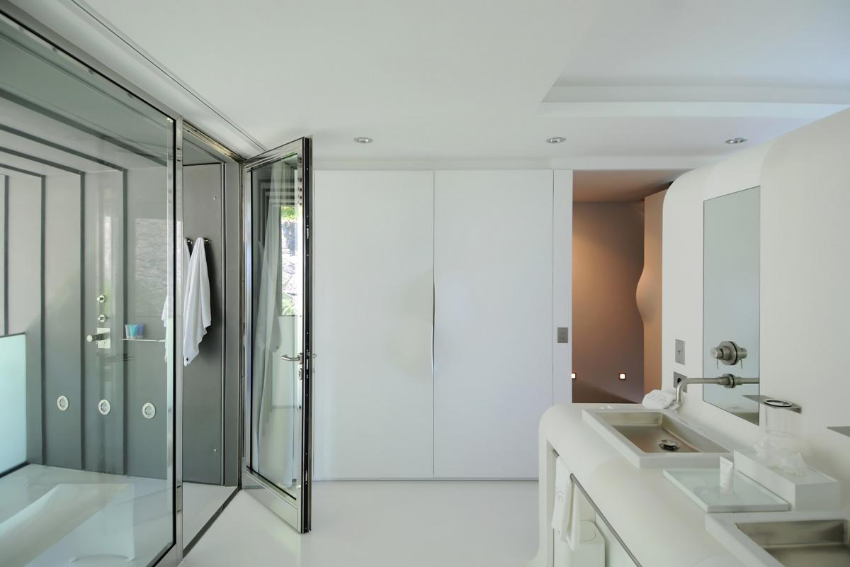 Location villa Saline - La salle de douche de la chambre 1