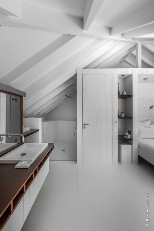 Location villa Saline - La salle de douche de la chambre 4