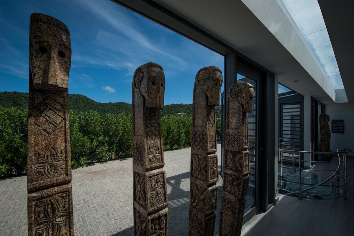 Location villa Gustavia - L'accès extérieur aux chambres