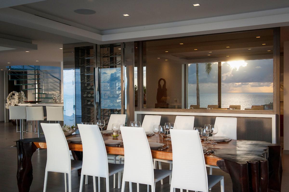 Location villa Gustavia - La salle à manger