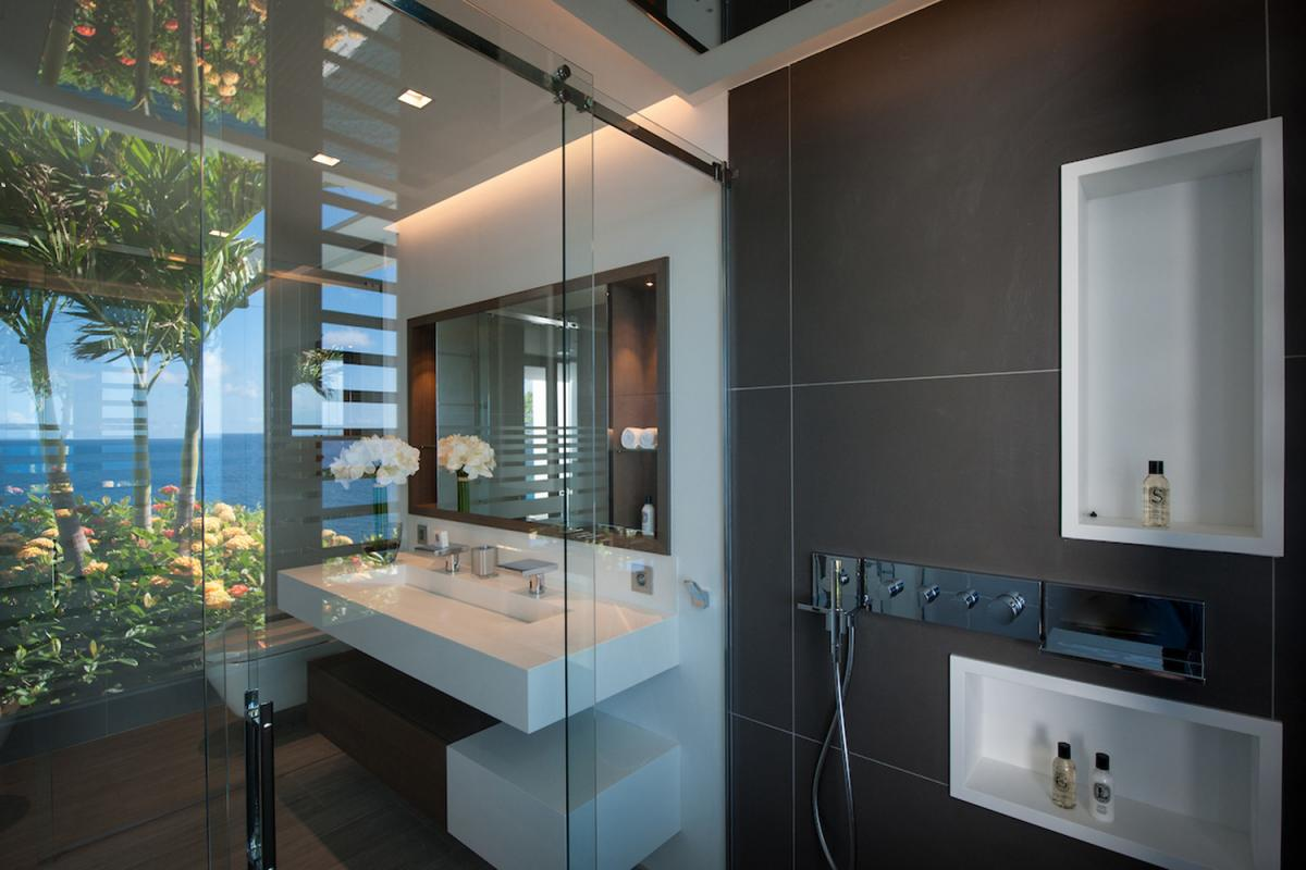 Location villa Gustavia - La salle de douche de la chambre 1