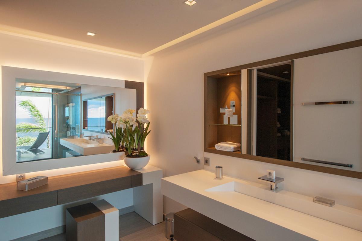 Location villa Gustavia - La salle de douche de la chambre 3