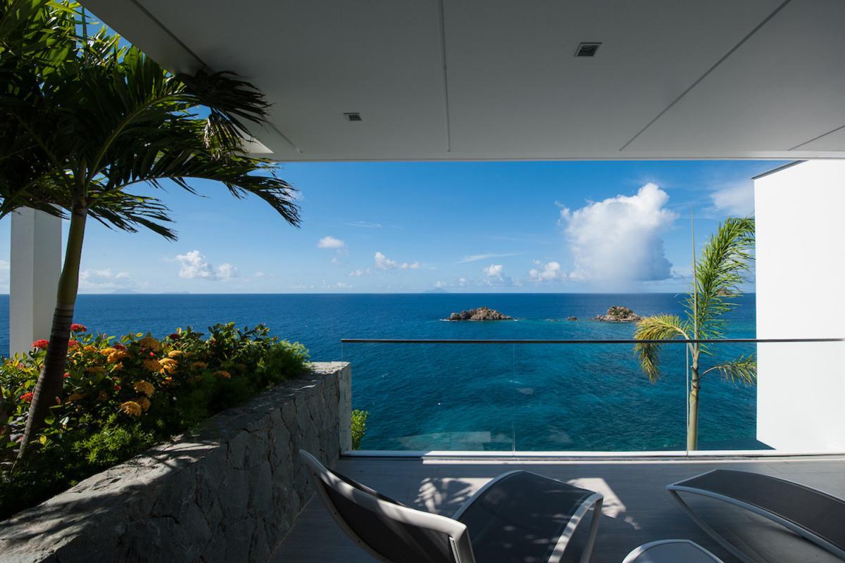 Location villa Gustavia - La terrasse de la chambre 1