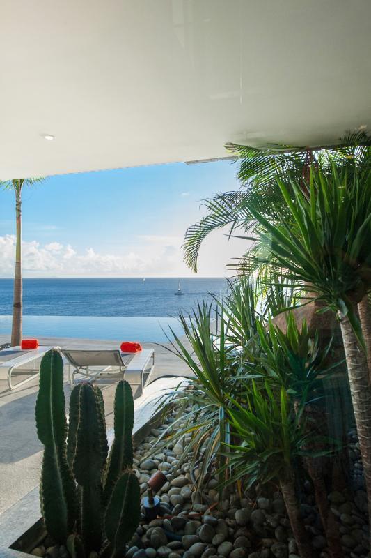 Location villa Gustavia - La terrasse de la chambre 2