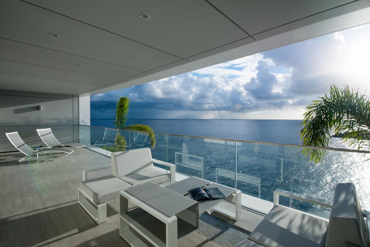 Location villa Gustavia - La terrasse de la Suite