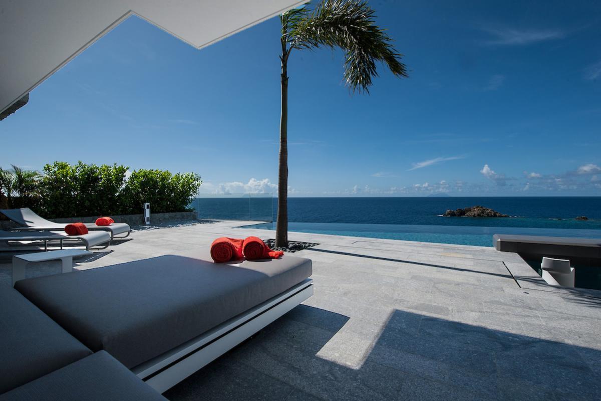 Location villa Gustavia - La terrasse