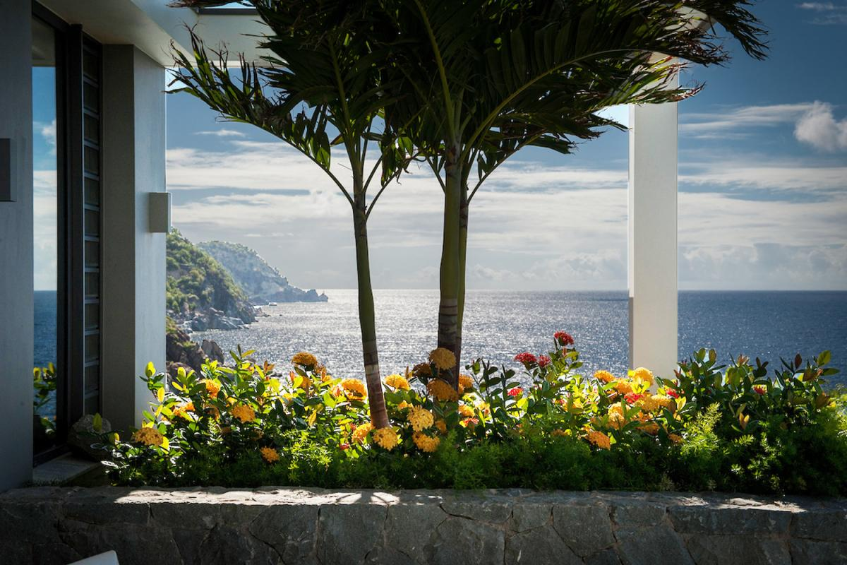 Location villa Gustavia - La vue depuis la terrasse de la chambre 1