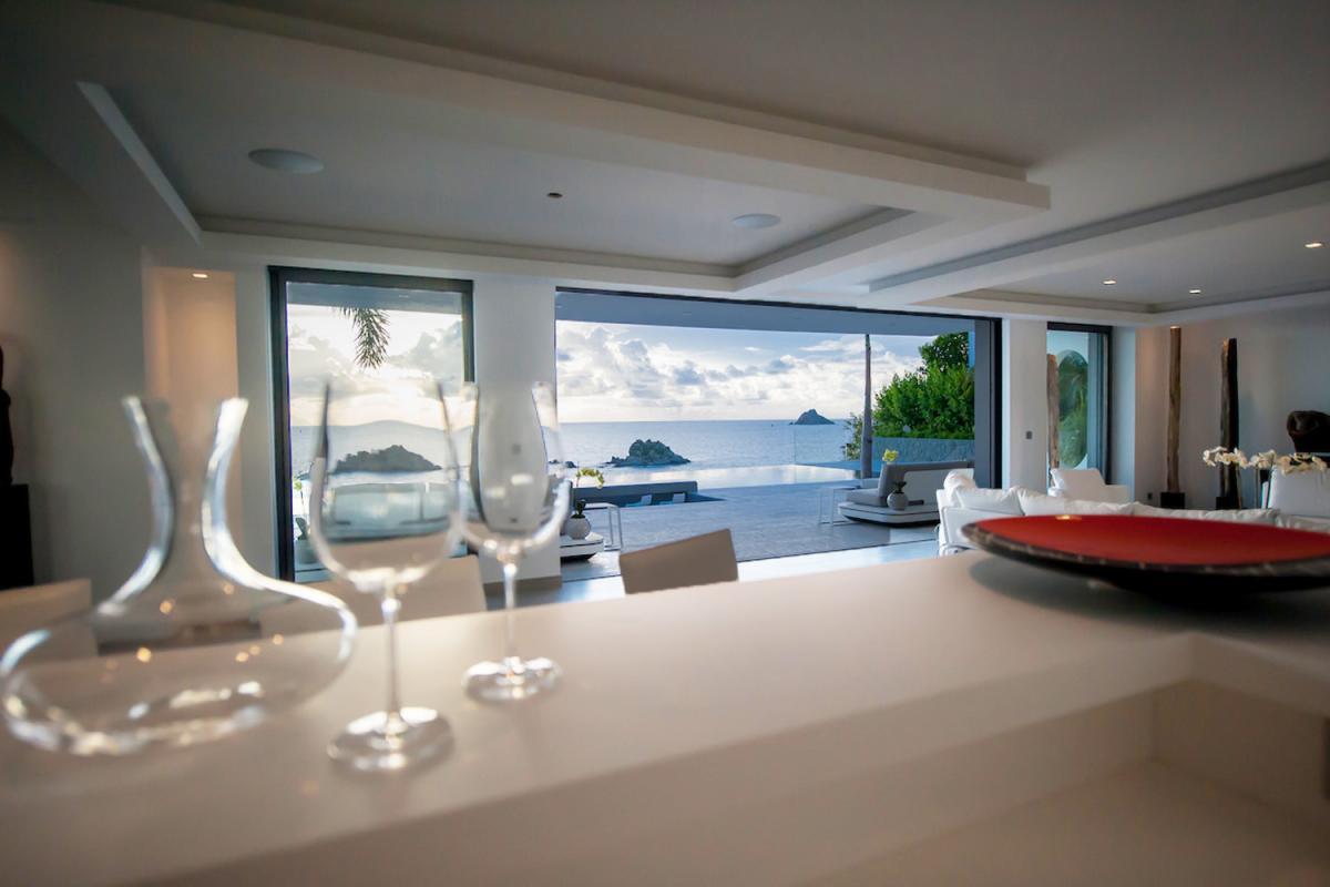 Location villa Gustavia - La vue depuis le bar à vin