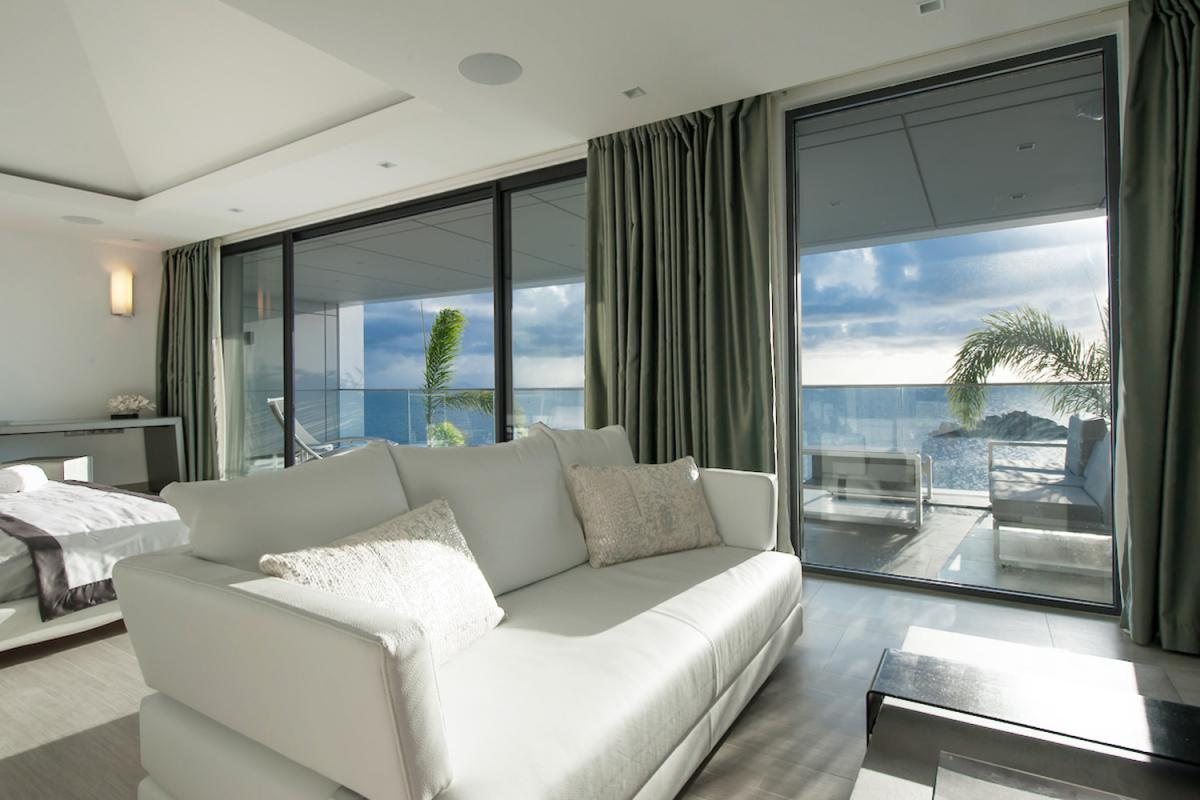 Location villa Gustavia - Le coin salon de la Suite