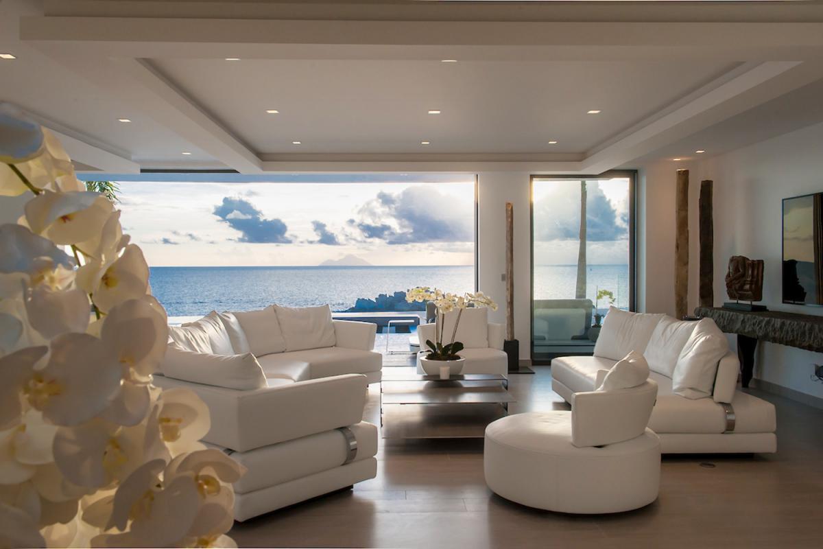 Location villa Gustavia - Le salon