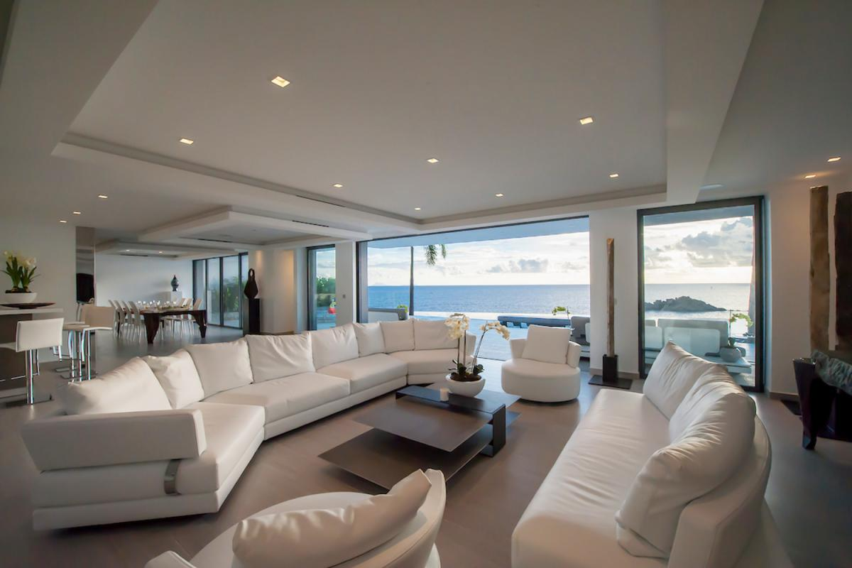 Location villa Gustavia - Le séjour