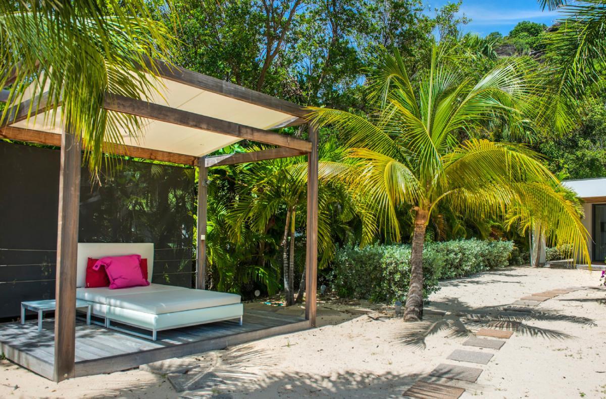 Location villa Lorient - L'espace détente du jardin
