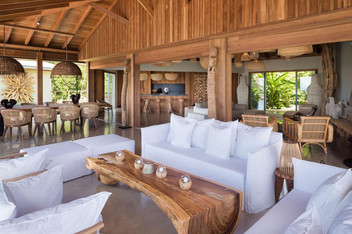 Location villa Saint-Jean - La terrasse et la pièce à vivre