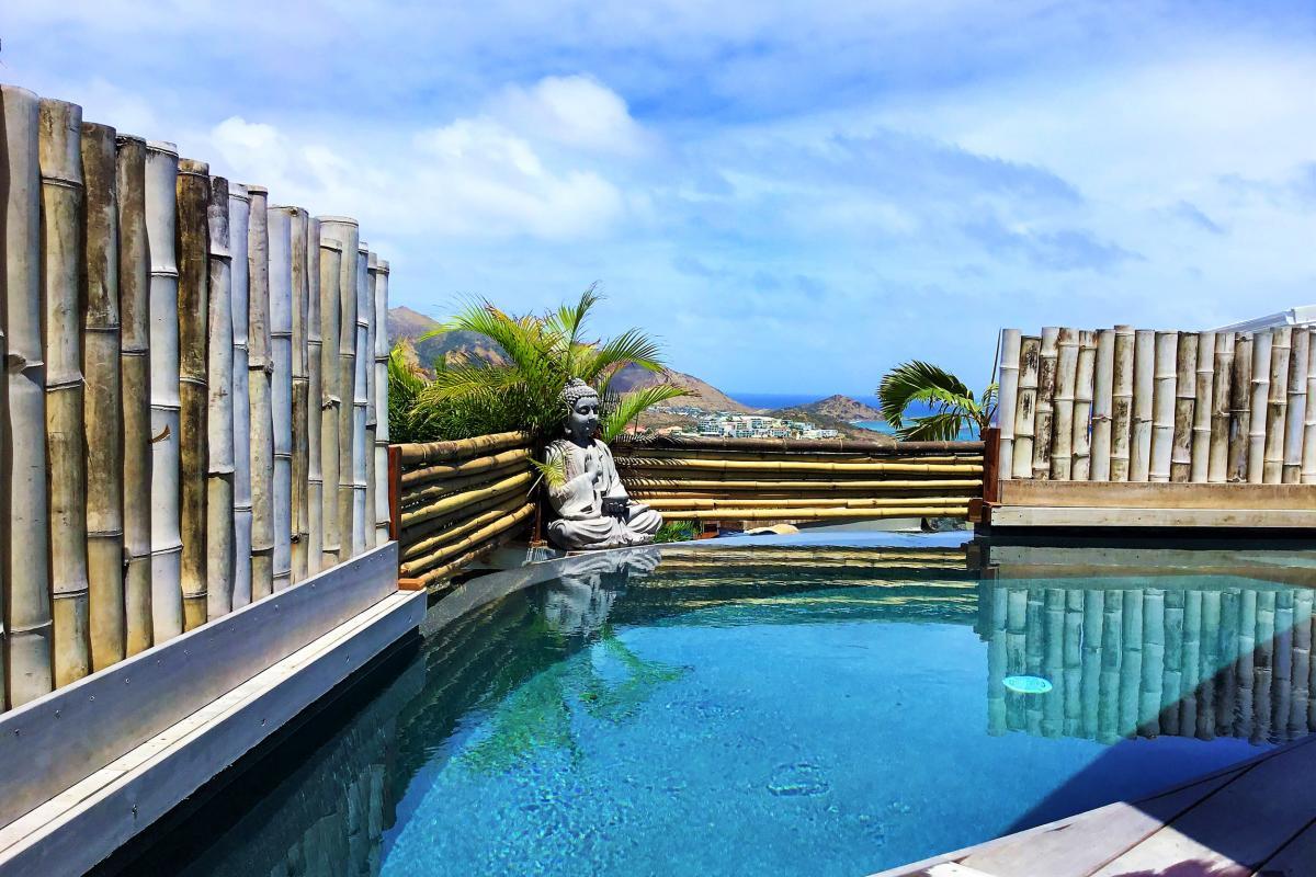 Location villa à St Martin avec vue mer - Terrasse