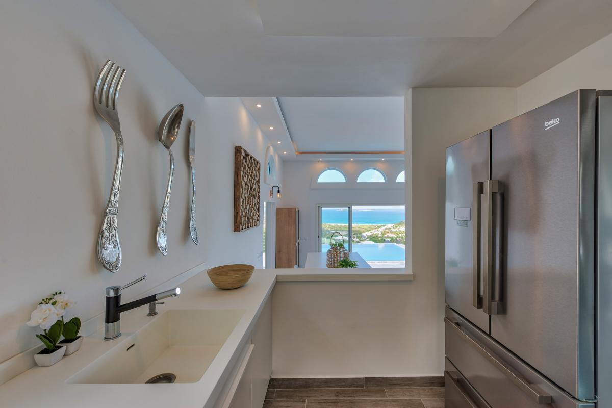 Location villa de luxe Saint Martin, Baie Orientale - Cuisine