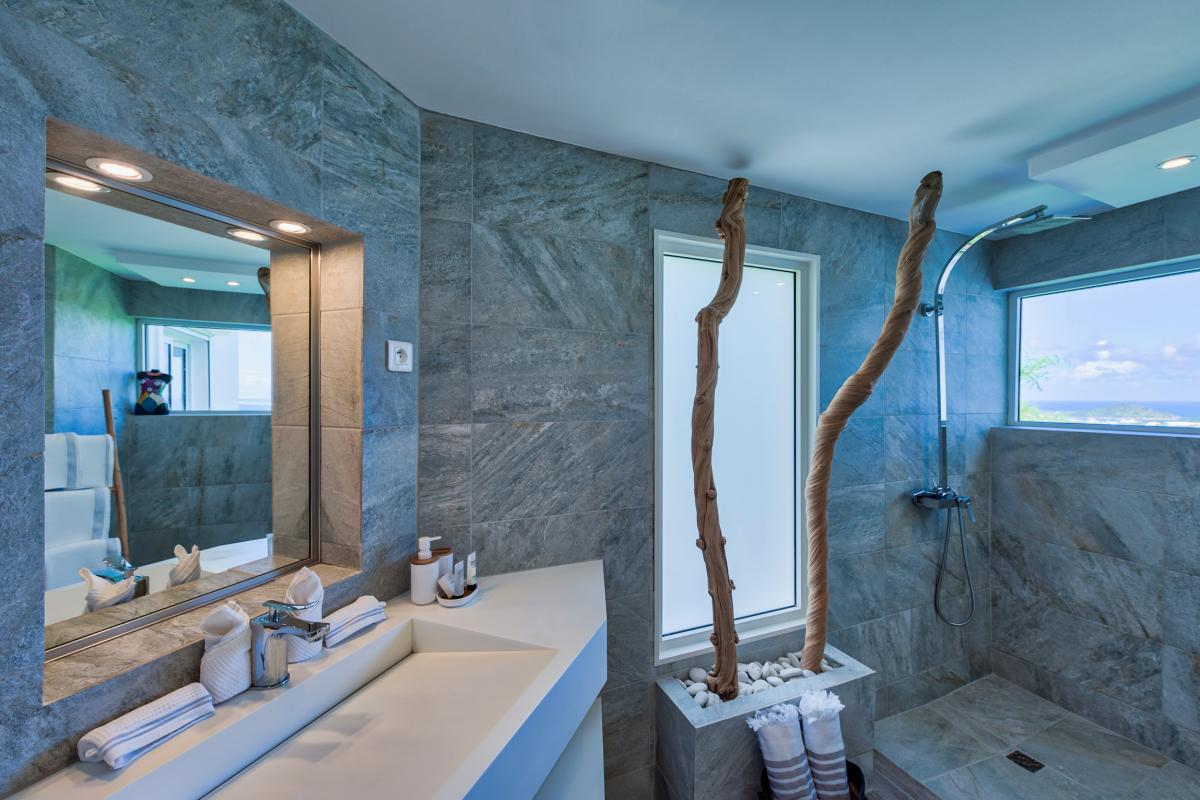 Location villa de luxe Saint Martin, Baie Orientale - Salle de bain chambre 2