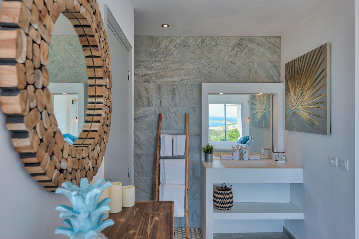 Location villa de luxe Saint Martin, Baie Orientale - Salle de bain chambre 3