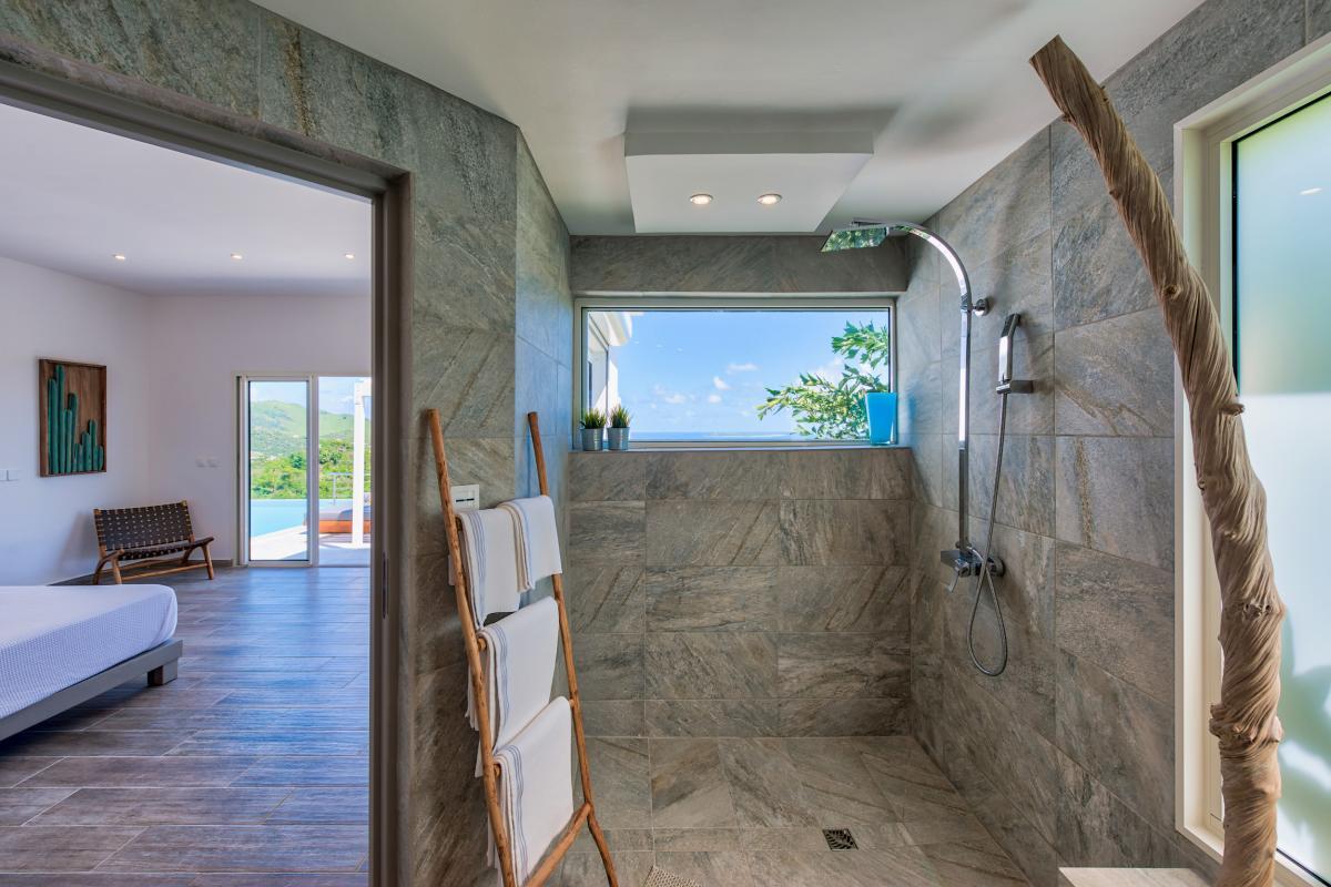 Location villa de luxe Saint Martin, Baie Orientale - Salle de bain chambre 4