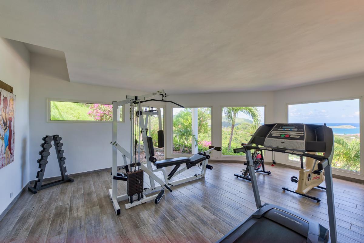 Location villa de luxe Saint Martin, Baie Orientale - Salle de sport
