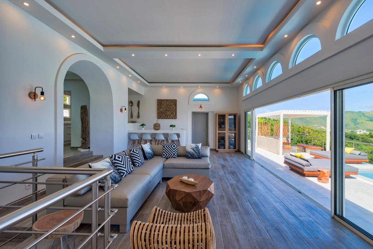 Location villa de luxe Saint Martin, Baie Orientale - Séjour