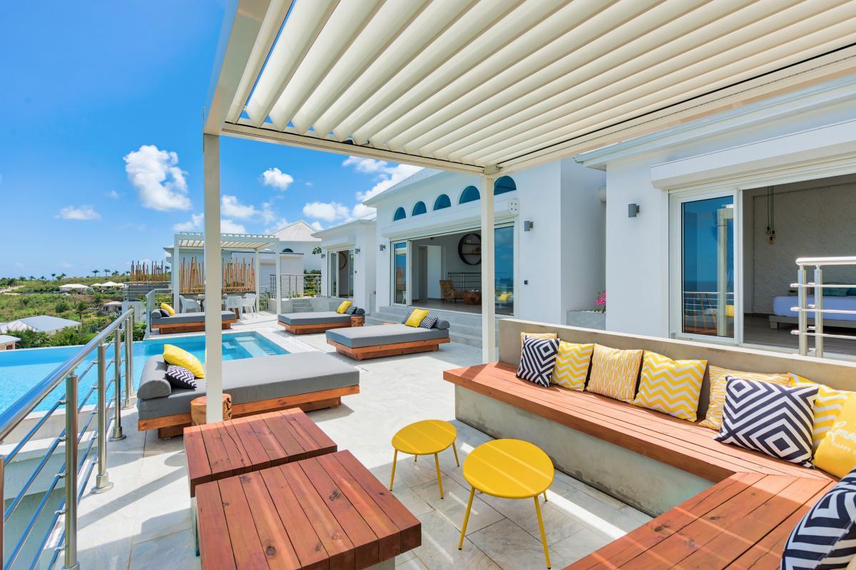 Location villa de luxe Saint Martin, Baie Orientale - Terrasse