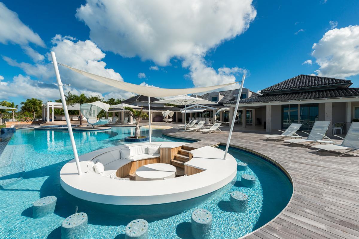 Location villa de luxe Saint Martin, Terres Basses  - Piscine et terrasse