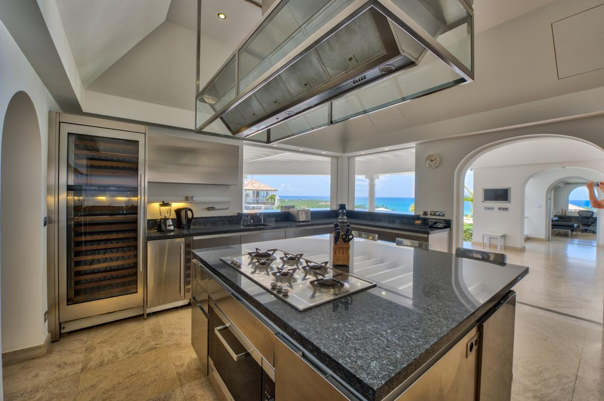 Location villa de luxe Saint Martin, Terres Basses - Cuisine