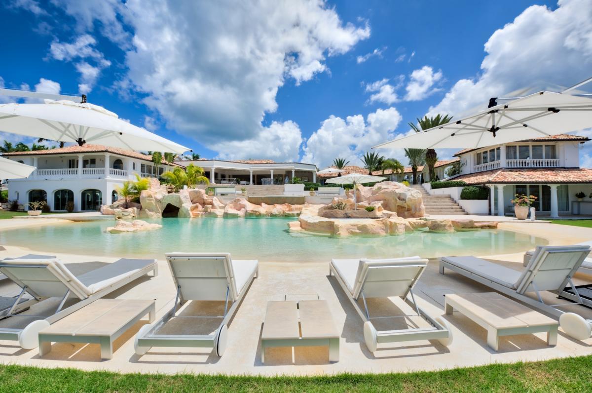 Location villa de luxe Saint Martin, Terres Basses - Piscine et villa