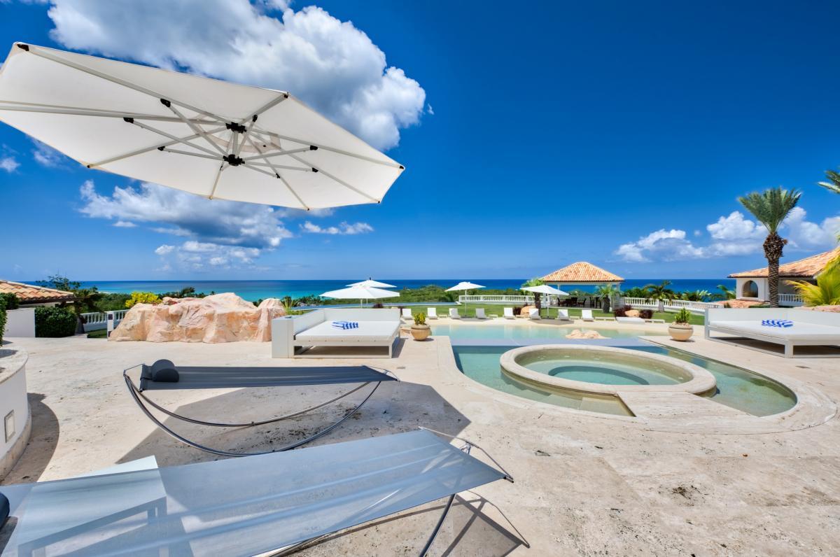 Location villa de luxe Saint Martin, Terres Basses - Piscine