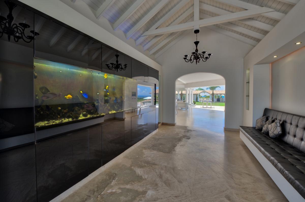 Location villa de luxe Saint Martin, Terres Basses - Salle d'aquarium