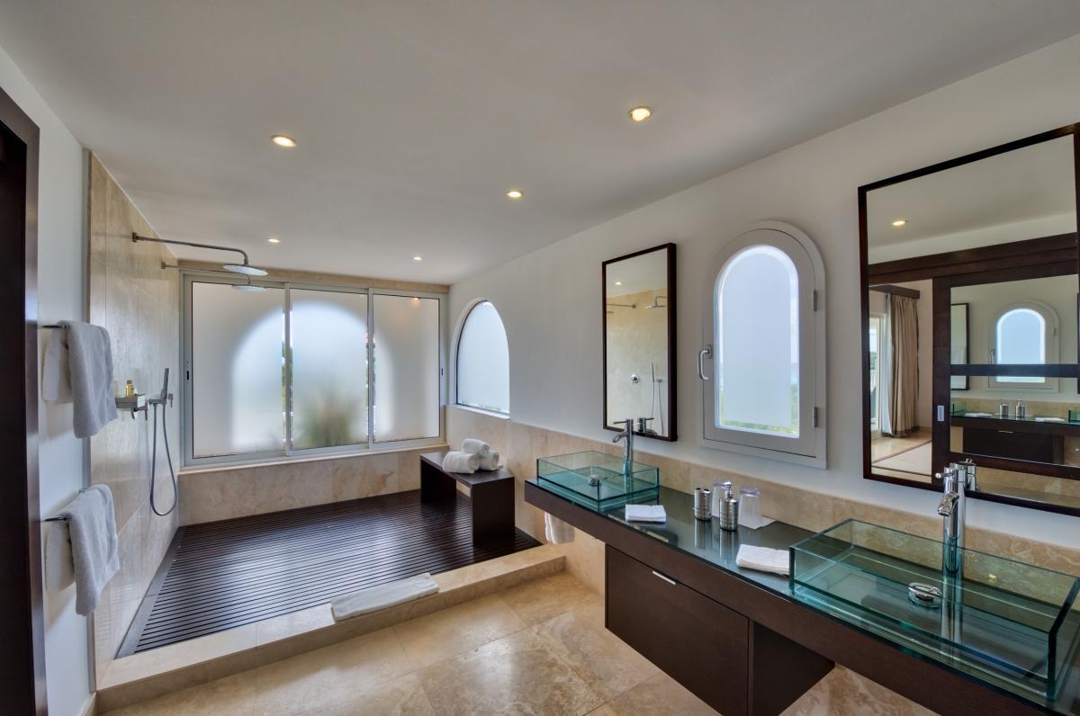 Location villa de luxe Saint Martin, Terres Basses - Salle de bain chambre 3