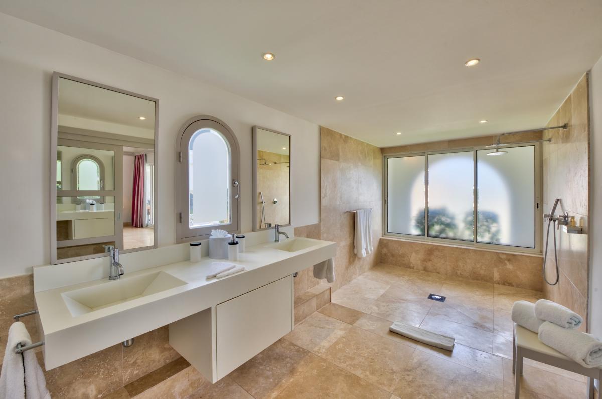 Location villa de luxe Saint Martin, Terres Basses - Salle de bain chambre 4