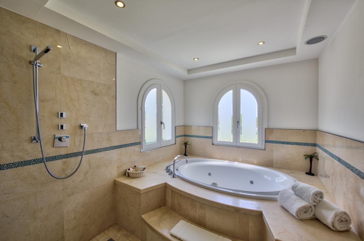 Location villa de luxe Saint Martin, Terres Basses - Salle de bain chambre 5