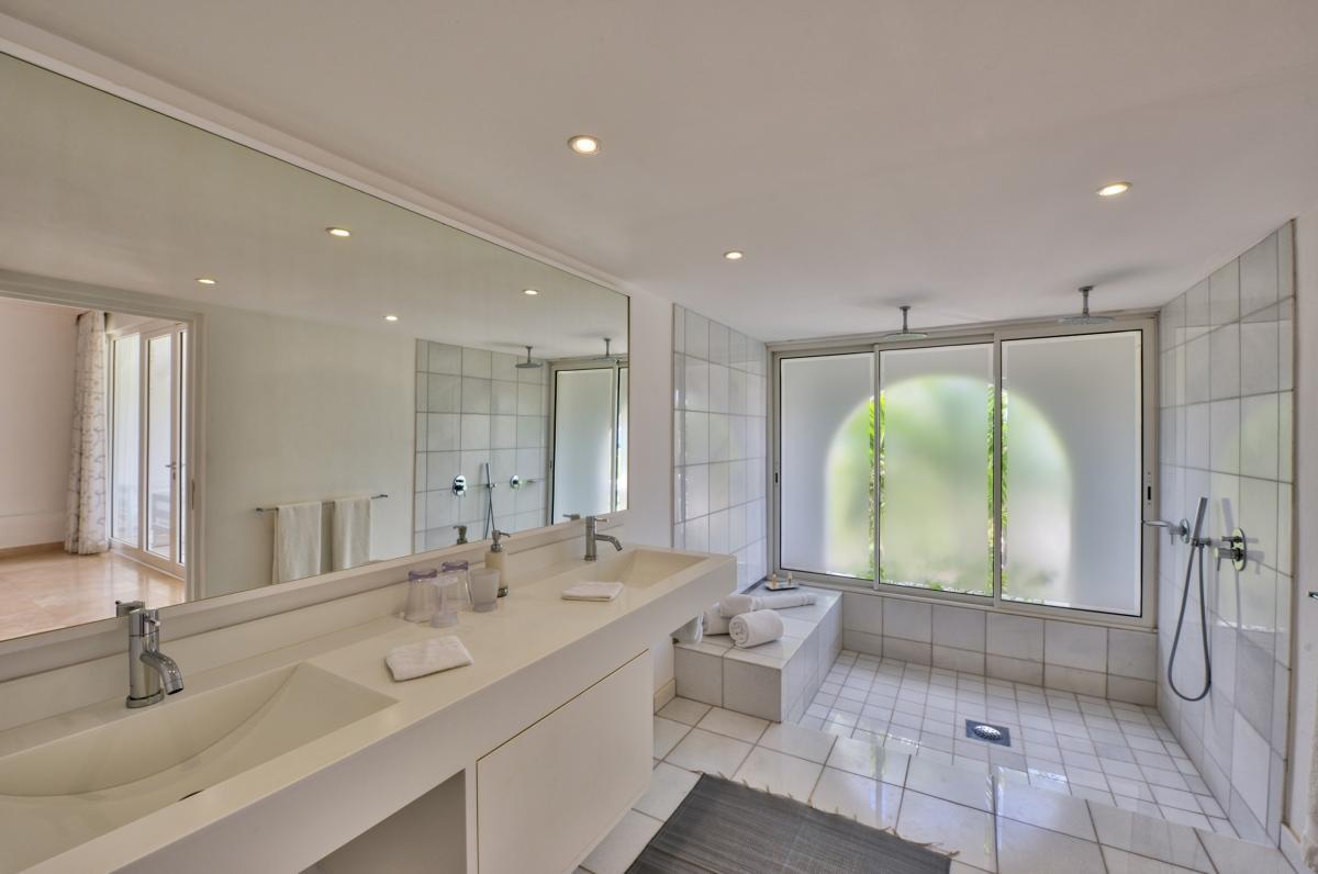 Location villa de luxe Saint Martin, Terres Basses - Salle de bain chambre 6