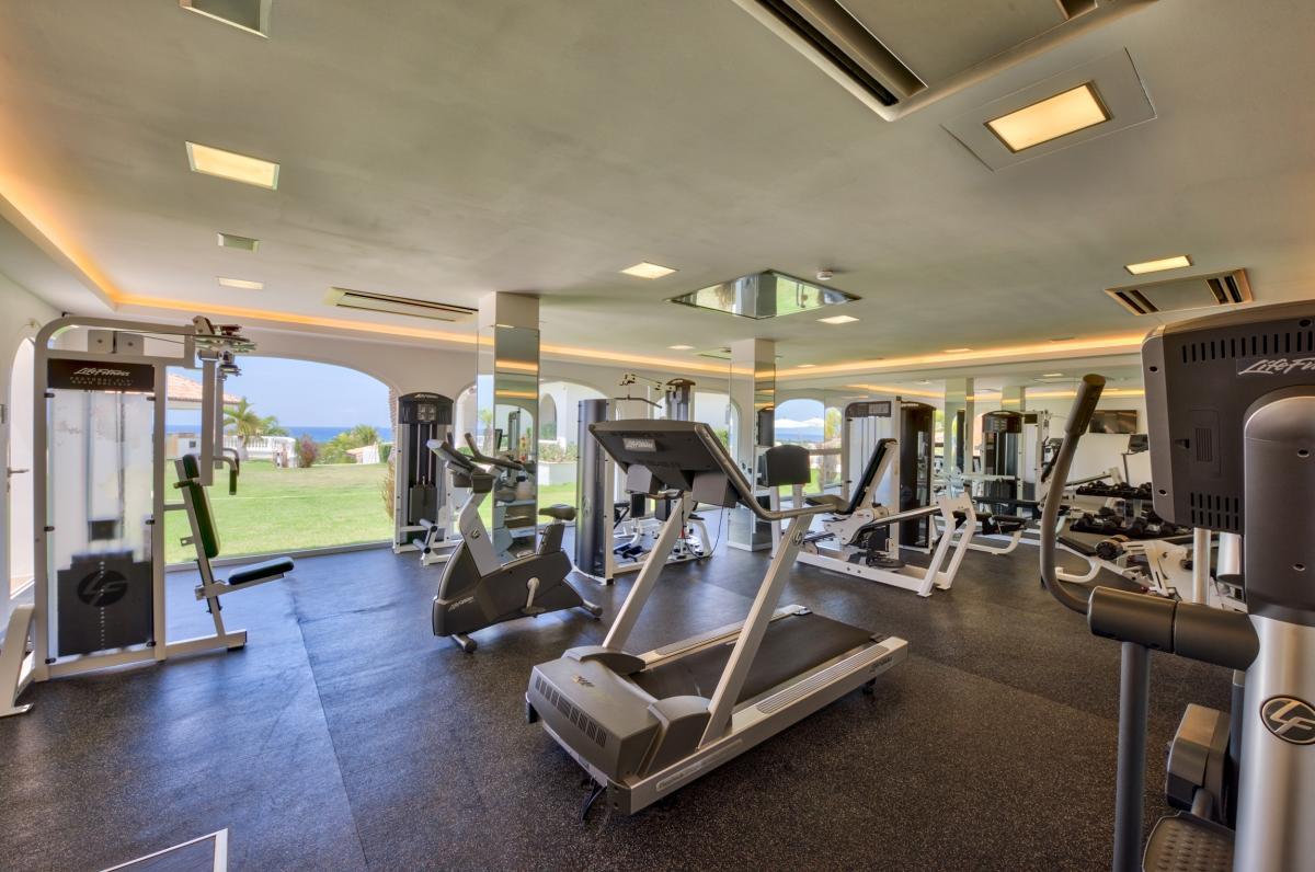 Location villa de luxe Saint Martin, Terres Basses - Salle de sport