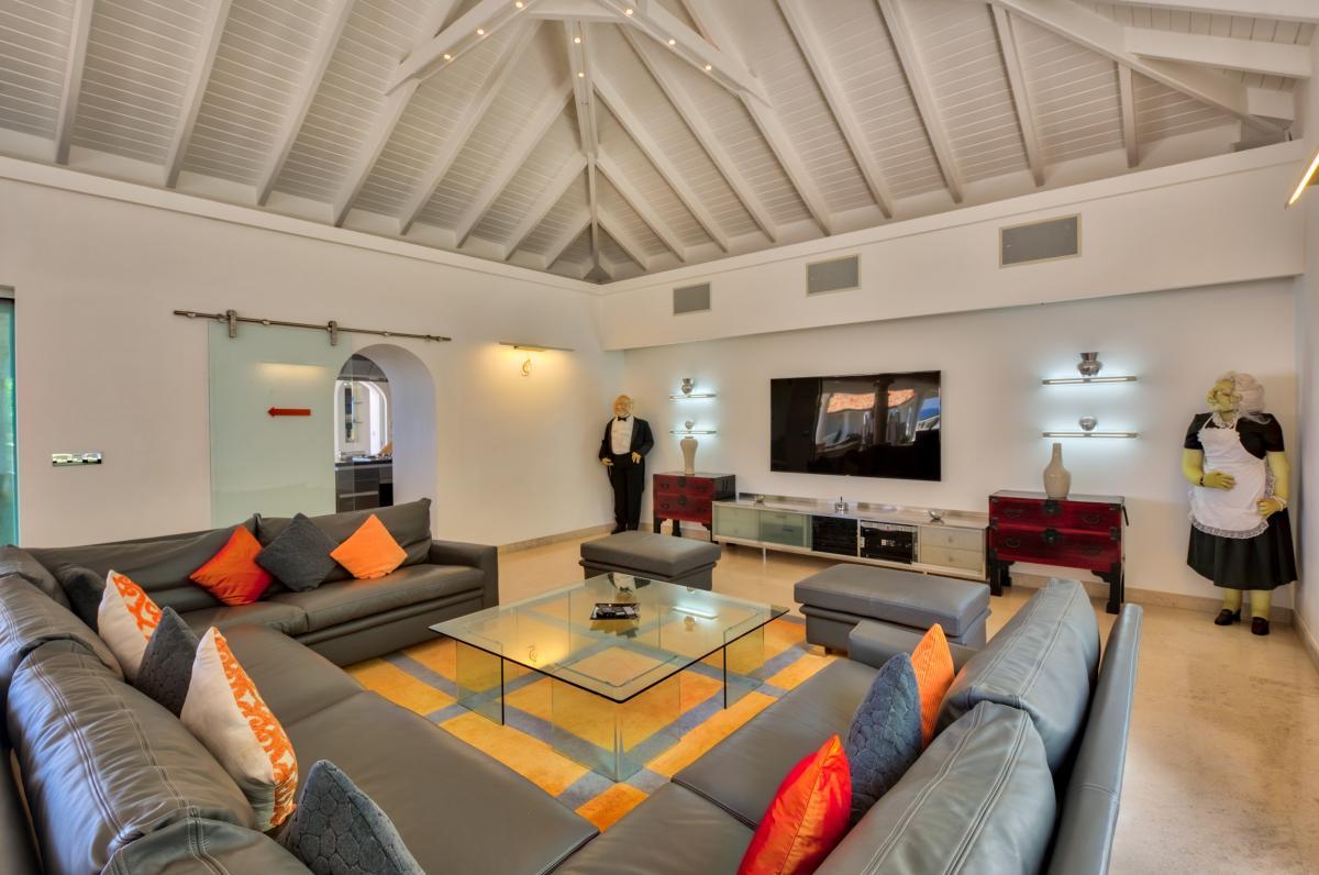 Location villa de luxe Saint Martin, Terres Basses - Séjour