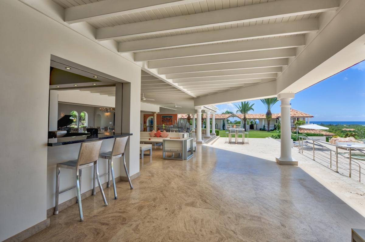 Location villa de luxe Saint Martin, Terres Basses - Terrasse